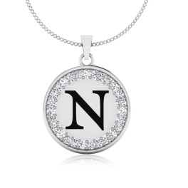 The Radiant N Silver Pendant