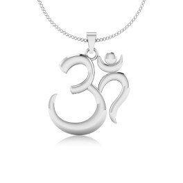 The Om Ganesh Silver Pendant