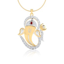 The Ganesha Om Diamond & Ruby Pendant
