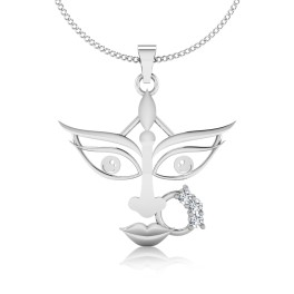 The Goddess Durga Silver Pendant
