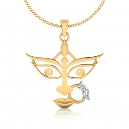 The Goddess Durga Diamond Pendant