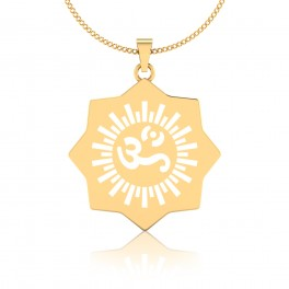 The Omkara Ganesha Gold Pendant