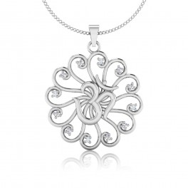 The Om Silver Pendant