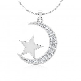 The Star Moon Diamond Pendant