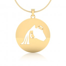 The Aquarius Zodiac Gold Pendant
