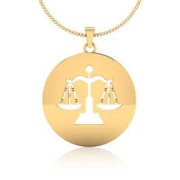 The Libra Zodiac Gold Pendant