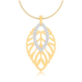 The Leaf Lattice Diamond Pendant