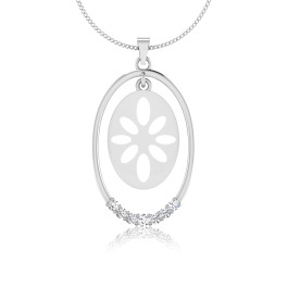 The Floral Silver Pendant