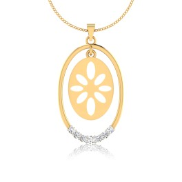 The Floral Diamond Pendant