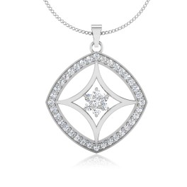 The Waffer Silver Pendant