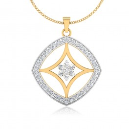 The Waffer Diamond Pendant