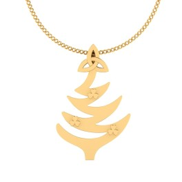 The Christmas Tree Gold Pendant