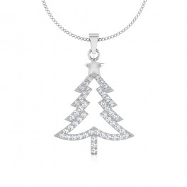 The Star Tree Silver Pendant