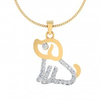 The Cute Dog Diamond Pendant