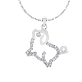 The Doggy Silver Pendant