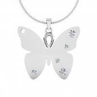 The Butterfly Silver Pendant