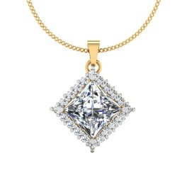 The Playful Princess Solitaire Pendant