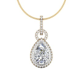 The Eternal Pear Solitaire Pendant