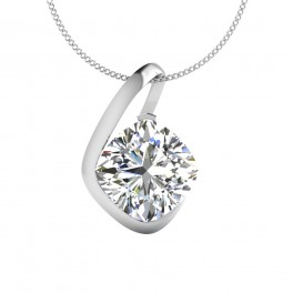 The Aspen Cushion Solitaire Pendant