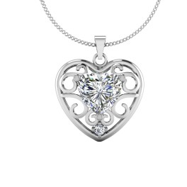 The Bow Solitaire Pendant