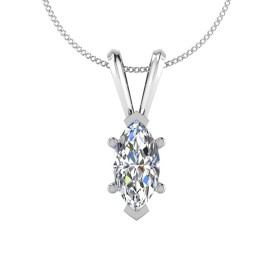 The Bliss Marquise Solitaire Pendant
