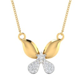 The Cluster Butterfly Diamond Pendant
