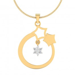 The Star Bell Diamond Pendant