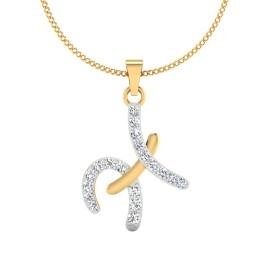 The H Designer Diamond Pendant