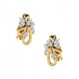 The Pallavi Diamond Stud Earrings