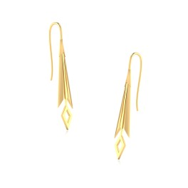 The Rainy Day Drop Gold Earrings