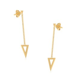 The Summer Outpoor Drop Gold Earrings