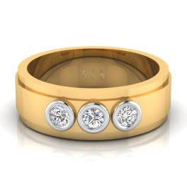 The Zack Mens Gold Band