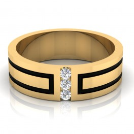 The Dainty Mens Gold Band