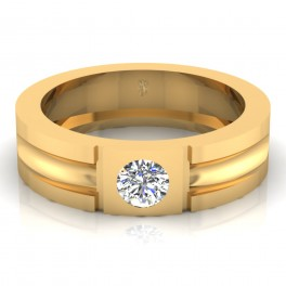 The Aaron Mens Gold Band