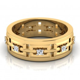 The Window Mens Gold Band