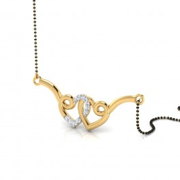 The Anika Curl Diamond Mangalsutra