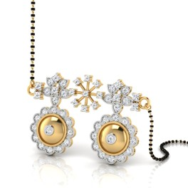 The Kevine Curly Diamond Mangalsutra