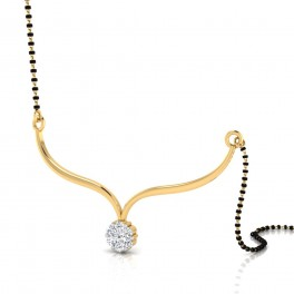 The Glittering Diamond Mangalsutra