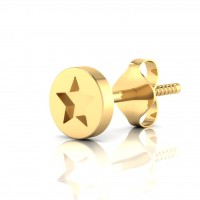 The Captain America Gold Mens Stud
