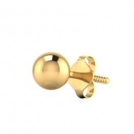 The Plain Ball Gold Mens Stud