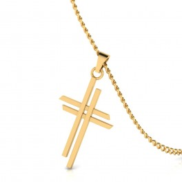 The Double Cross Gold Pendant