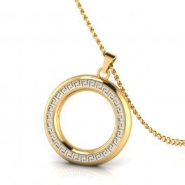 The Cricle for life mens gold pendant