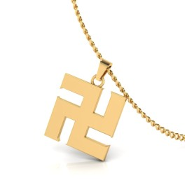 The Swastik for Mens Gold Pendant