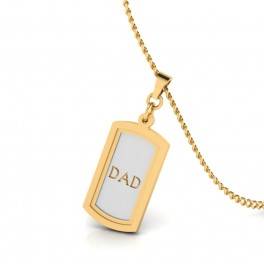 The Gift For Father Gold Pendant