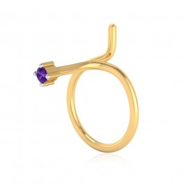 The Serenity Amethyst Nose Pin