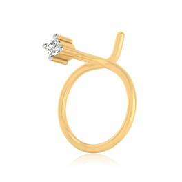 The Serenity Solitaire Diamond Nose Pin