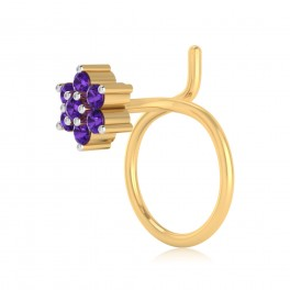 The Peoni Amethyst Nose Pin