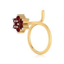 The Peoni Ruby Nose Pin