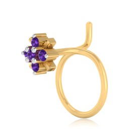 The Vivid Amethyst Nose Pin