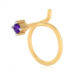 The Elvira Amethyst Nose Pin
